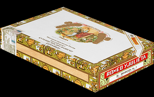 Romeo y Julieta Exhibicion No. 3. Коробка на 25 сигар
